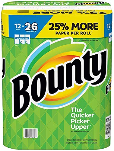 Bounty Select-A-Size White Mega Roll Paper Towels, 117 sheets, 12 rolls