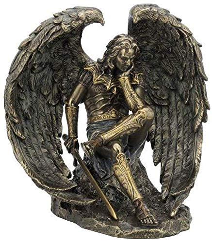 Veronese Design Statue Lucifer der gefallene Engel, 16,5 cm, Kaltguss, bronzefarben