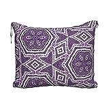 Manta de viaje y almohada, juego de almohada y manta de viaje, manta de viaje compacta, suave, 2 en 1, cojín con repetición púrpura