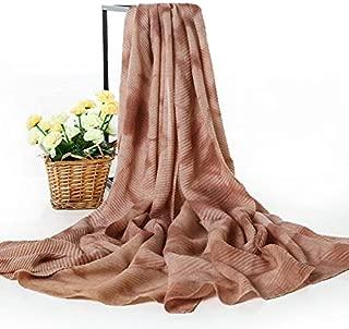 For Women Winter Scarves Cozy Wrap Warm Silk Feel Scarf Scarves (Color : Bronze)