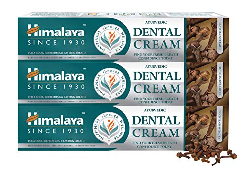 Himalaya Ayurvedic Dental Cream with Clove Essential Oil, Natural Anti-Odour Agent, 100g (3 PACK)