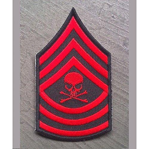 hotrodspirit parche de hombrera estilo militar y rockabilly con calavera color rojo