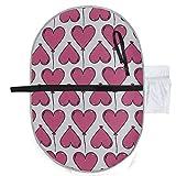 Nizza Herz Ballon Dekoration Design Wickelauflage Für Babys Wickelauflage 27x10 Zoll Wasserdichte Faltbare Matte Baby Tragbare Wickelstation Windel Wickelauflage