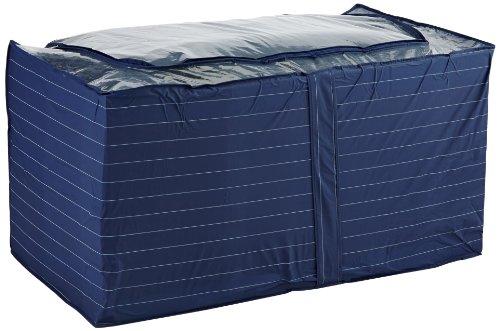 WENKO 4376210100 Jumbo-Box Comfort, Kunststoff - PEVA, 91 x 48 x 53 cm, Blau