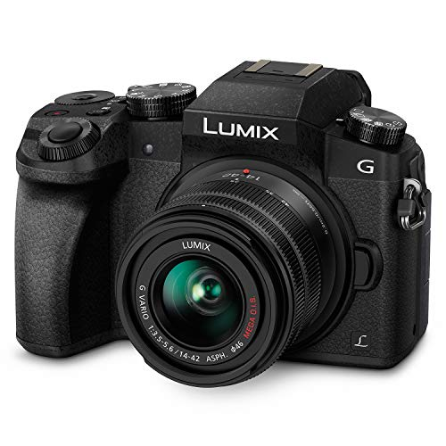 PANASONIC LUMIX G7 4K Digital Camera, with LUMIX G VARIO 14-42mm MEGA O.I.S. Lens, 16...