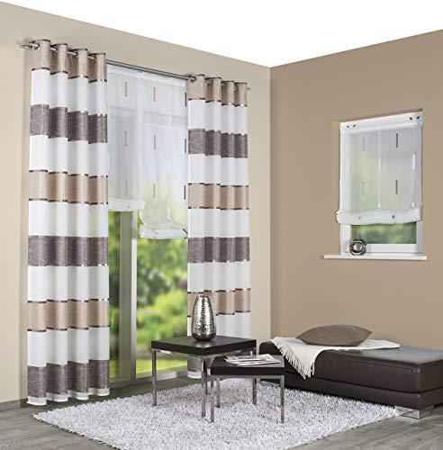 Home Fashion Fertigschal, Stoff, Cappuccino, 225 x 140 cm