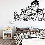 Tianpengyuanshuai Pegatinas de Pared de Personaje de Dibujos Animados Pegatinas de Arte de Pared calcomanía de Pared Decorativa extraíble para habitación de niños 85X124 cm
