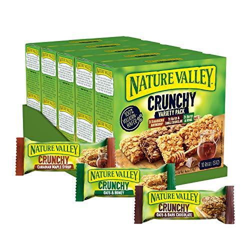 Nature Valley Crunchy Variety Pack, Müsliriegel, 5er Pack (5 x 210 g Multipack mit je 10 Riegeln)