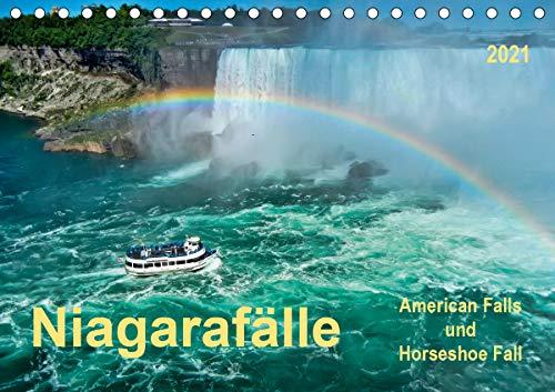 Niagarafälle - American Falls und Horseshoe Fall (Tischkalender 2021 DIN A5 quer)