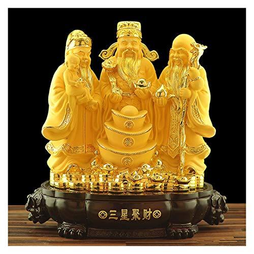 Feng shui estatuas Estatuas Feng Shui decoración del hogar atraer la riqueza y buena suerte Feng Shui exquisita decoración de cumpleaños y regalos estreno de una sala de estar Craft Decoración Decorac