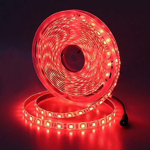 JOYLIT Striscia LED Rosso SMD5050 300 LEDs IP65 impermeabile 5 metri DC12V di altezza striscia di led per decorazione di armadio da cucina, camera da letto