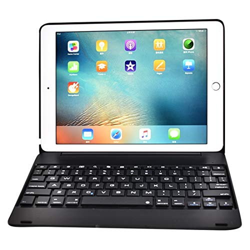 LDT Keyboard for Tablet PC, F19B Ultra-thin ABS Horizontal Flip Case + Bluetooth Keyboard for iPad 9.7 (2017/2018) & iPad Air & Air 2 & iPad Pro 9.7 & New iPad 9.7 inch (2017) (Color : Black)