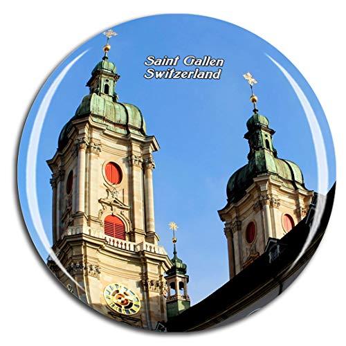 Weekino Svizzera Biblioteca dell'abbazia di San Gallo Calamità da frigo 3D Cristallo Bicchiere Tourist City Viaggio Souvenir Collezione Regalo Forte Frigorifero Sticker