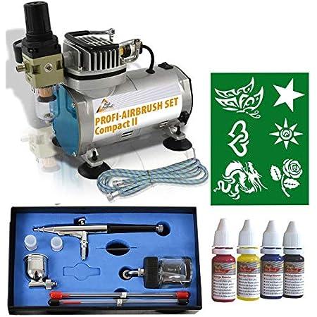 Airbrush Set Compact Set I Mit 6 Tattoo Und 4 Farben Kit Mit Sehr