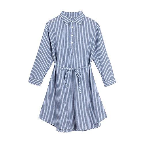 Plus Size Umstandskleid Sommer Elegant Damen Shirt Hemdrock Gestreiftes Kleid Stillzeit Stillkleid Nachtkleid Mode Umstandskleid Sommer