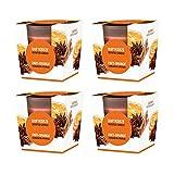 pajoma Duftkerze 4er Set, Zimt-Orange, im satinierten Glas, 4x 124 g, Brenndauer: 25 Stunden, in edler Geschenkverpackung -