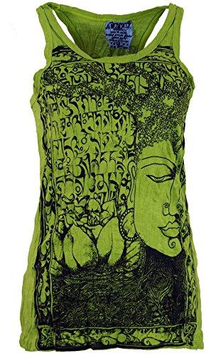 Guru-Shop Sure Tank Top, Damen, Lemon, Baumwolle, Size:L (40), Bedrucktes Shirt Alternative Bekleidung