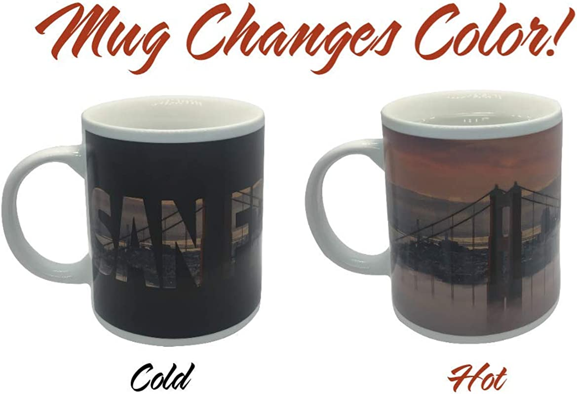 San Francisco Skyline Color Changing Coffee Mug