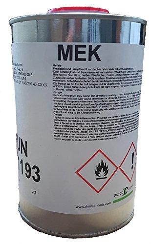 DruckChemie Methylethylketon - Butanon - MEK - Lösemittel, Entfetter (min. 99,5%) (1 Liter)