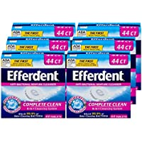 6-Pack X 44 Count Efferdent Anti-Bacterial Denture Cleanser
