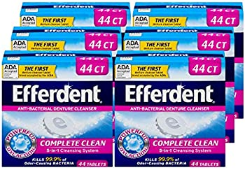 6-Pack X 44 Count Efferdent Anti-Bacterial Denture Cleanser
