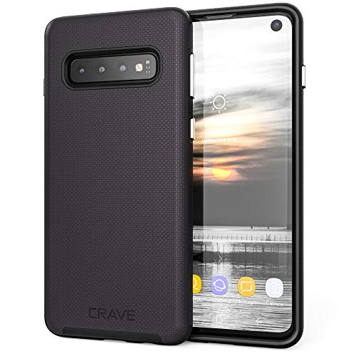 Crave Dual Guard for Samsung Galaxy S10 Case, Shockproof Protection Dual Layer Case for Samsung Galaxy S10 - Black