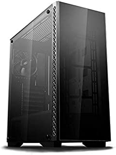 DEEPCOOL MATREXX 50 Mid-Tower Case Tempered Glass Side And Front Panel With PSU Shroud,one black fan pre-installed at rear