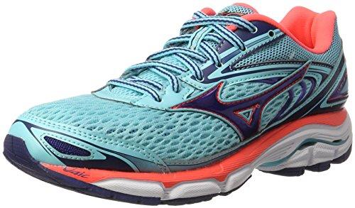 Mizuno Wave Inspire W, Zapatillas de Running para Mujer, Multicolor (Blueradiance/Blueprint/fierycoral), 37 EU