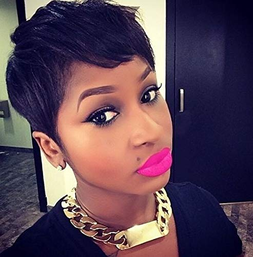 Naseily Short Pixie Hair Cut Synthetic Short Wigs For Black Women Natural Women Hairstyles Heat Resistant Synthetic Hairpieces
