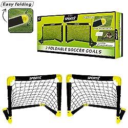 Sportx Children's Football Goal Goal, Black / Yellow, S / 55 x 44 x 44 cm