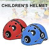 FENGLI Bonito casco de seguridad para niños para ciclismo, scooter, bicicleta, patineta, patinete, patinete, rojo y azul (adecuado para niños de 3 a 10 años) (color: azul)