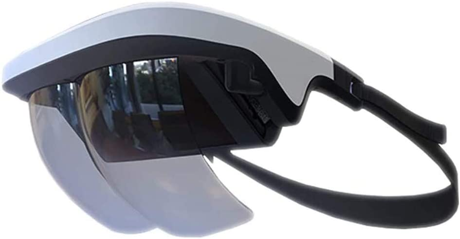 90°FOV AR Headset, Smart AR Glasses 3D Video Augmented Reality VR Headset for iPhone & Android (4.5-5.7'' Screen), Games and 3D Videos (White)
