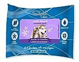 Silpet - 40toallitas a la lavanda para gatos y perros (30x 20cm) Con clorexidina