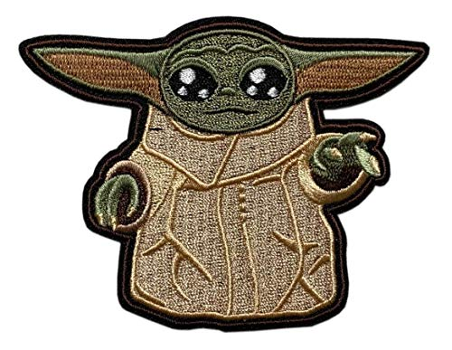 Child Mandalorian Alien Inspired Embroidered Patch ('Velcro Brand' Fastener - BY41)