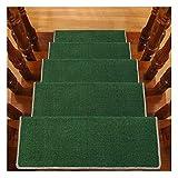 LIYUHOUZUONC Tappeti per Scale Tappetini per Gradini Step 24x65cm 14mm Corridori per Corridoi Antiscivolo Multipli (Color : B, Size : 15 Pieces Set)