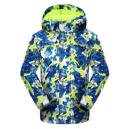 PHIBEE Big Boy's Waterproof Breathable Snowboard Ski Jacket Print1 8
