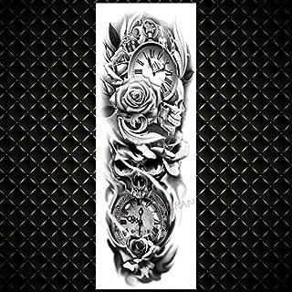 Full Arm Lion Monster Tatuajes Temporales Para Hombres Mujeres Long Size Art Tatoo Diy Realistic Fake Tattoo Sticker 7Pcs