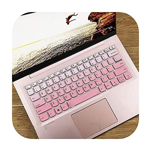 Protective Laptop Keyboard Cover for Lenovo Yoga S740-14Iil S940-14Iwl S940-14Iil C740-14Iml S740 S940 C940 C740 14Iil S540 14 Inches Gradient Pink