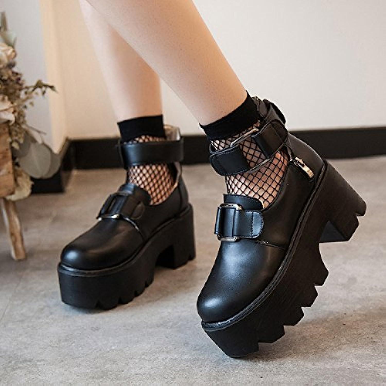 AGECC Damen Stiefel Bequeme Schne Durable Retro Kopf Puppe Schuhe Muffin Untere Schuhe