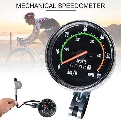 Corwar Mechanische Fahrrad Tacho Fahrrad Kilometerzähler Analog Kilometerzähler Classic Style für Exercycle Bike