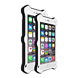 LOVE MEI MK2 Aero Aluminium Metal Case Cover TPU Shockproof Case Cover for iPhone 6s Plus - White
