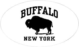 CafePress Buffalo New York Oval Bumper Sticker, Euro Oval Car Decal