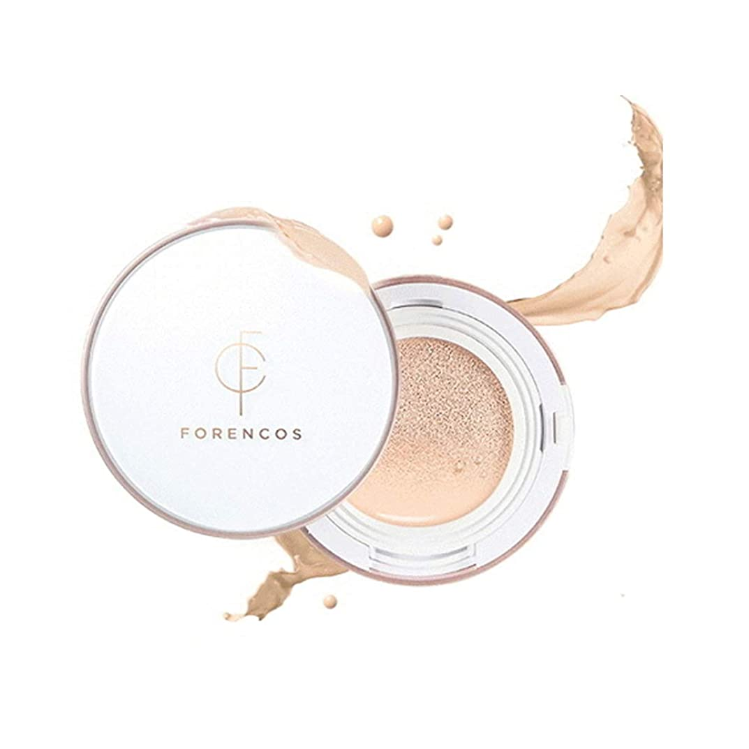 兵隊低い歩く[Forencos] フォレンコス フルカバークッション #ライトベージュ SPF50+ PA+++ Full Cover Cushion(Light Beige) - Perfect Magic Cover Foundation Hydrating Matte Finish Gorgeouse Look Makeup Korean Cosmetics ファンデーション