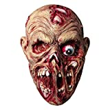 Molezu Scary Walking Dead Zombie Head Mask Latex Creepy Halloween Costume Party Cosplay Horror Bloody Props Adult (Bad Mouth Zombie)