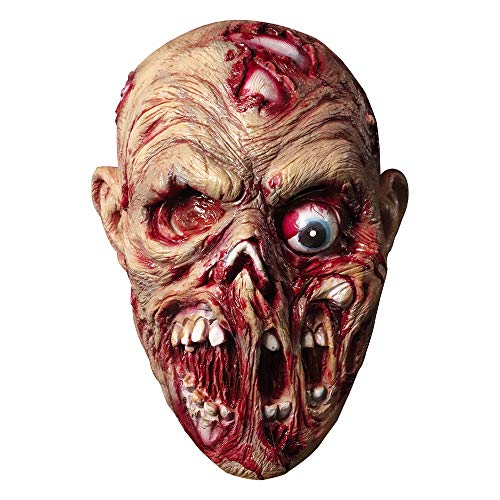 molezu Walking Dead Vollkopfmaske, Rubber Latex Maske für Halloween (lanzui)