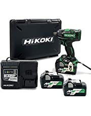 HiKOKI(ハイコーキ)旧日立工機 36Vコードレスインパクトレンチ WR36DC(2XP) 蓄電池合計3個セット