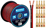 Best Speaker Cable With Banana Plugs - InstallGear 14 Gauge AWG 100ft Speaker Wire Cable Review