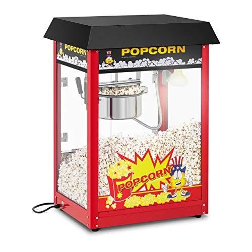 Royal Catering Macchina per Pop Corn Macchina per Fare i Pop-Corn RCPS-16EB (Tetto nero, Ciclo di Lavoro 120 s, 1.495 W, 250 °C)
