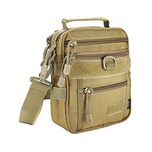 ProCase Tactical Gun Bag, Militaire Molle Gear Pistool Schouderriem Tas Pistool Munitie Accessoires Pouch Shooting Range Plunjezak voor jacht- of schietbaan Sport- Kaki
