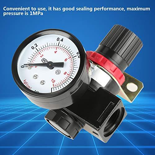 Válvula reguladora de presión, regulador de presión de aire, válvula de presión G1 / 2 con manómetro para comprobar la presión del aire comprimido